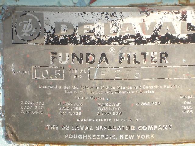 5 SQ FT FUNDA FILTER, LAB SIZE, S/S