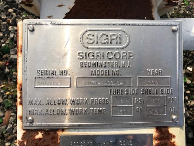 21 SQ FT SIGRI/ROBEN GRAPHITE HEAT EXCHANGER