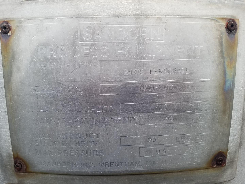 """24"""" X 16"""" Ellerwerk (Sanborn) Basket Centrifuge, S/S"""