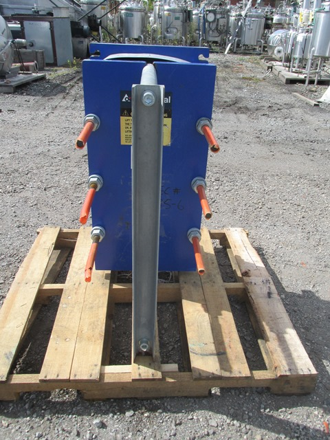 75.75 Sq Ft Alfa Laval Plate Exchanger, S/S, 150#