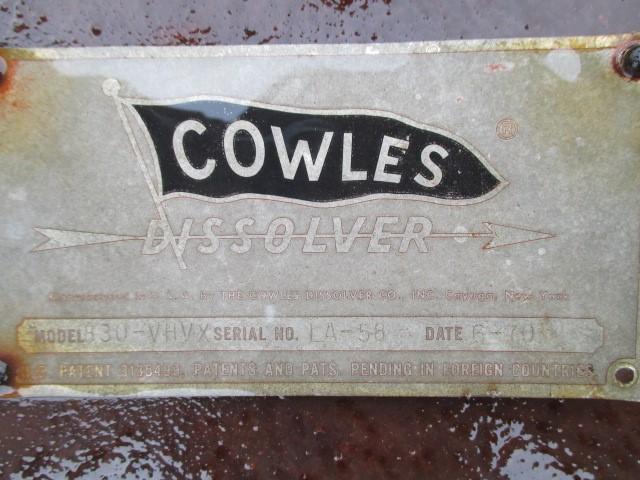 60 HP COWLES DISPERSER, S/S, MODEL 830VHVX