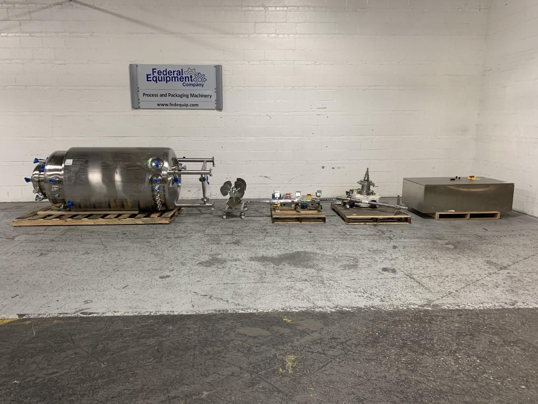 1200 Liter B. Braun Biotech Fermentor, 316L S/S, 50/75#