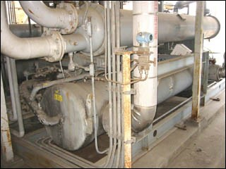 350 TON DUNHAM-BUSH PACKAGE CHILLER, WATER COOLED