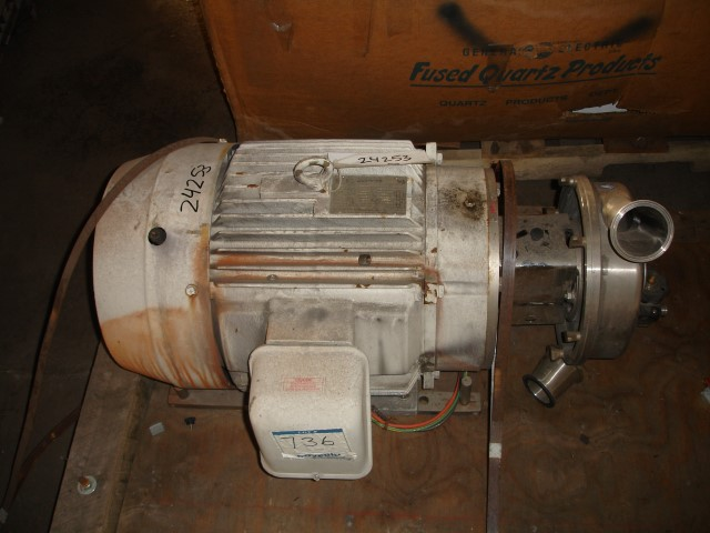 "4"" X 3"" G & H CENTRIFUGAL PUMP S/S 40 HP"