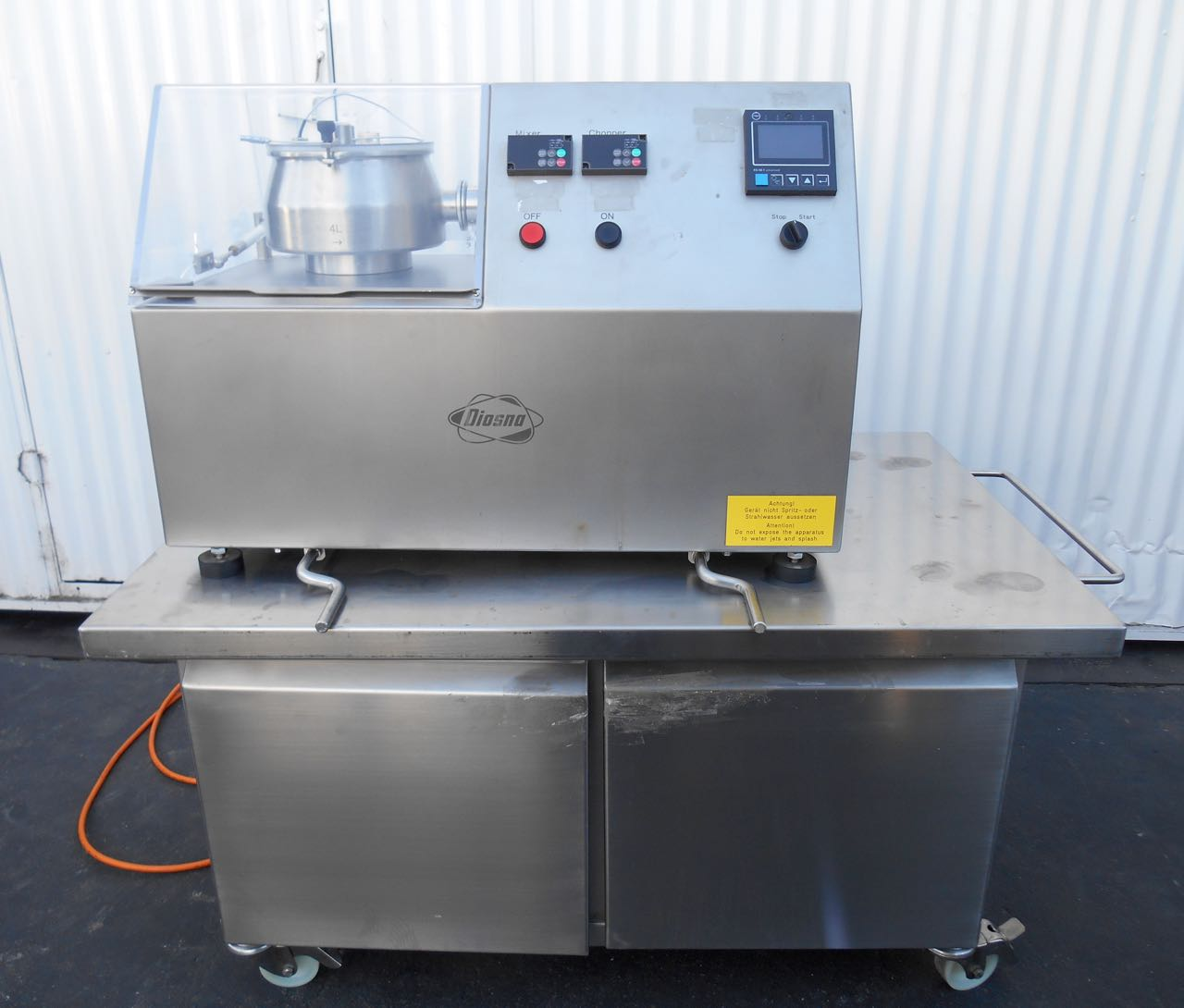 4 Liter Diosna High Shear Mixer, Model P1/6, S/S