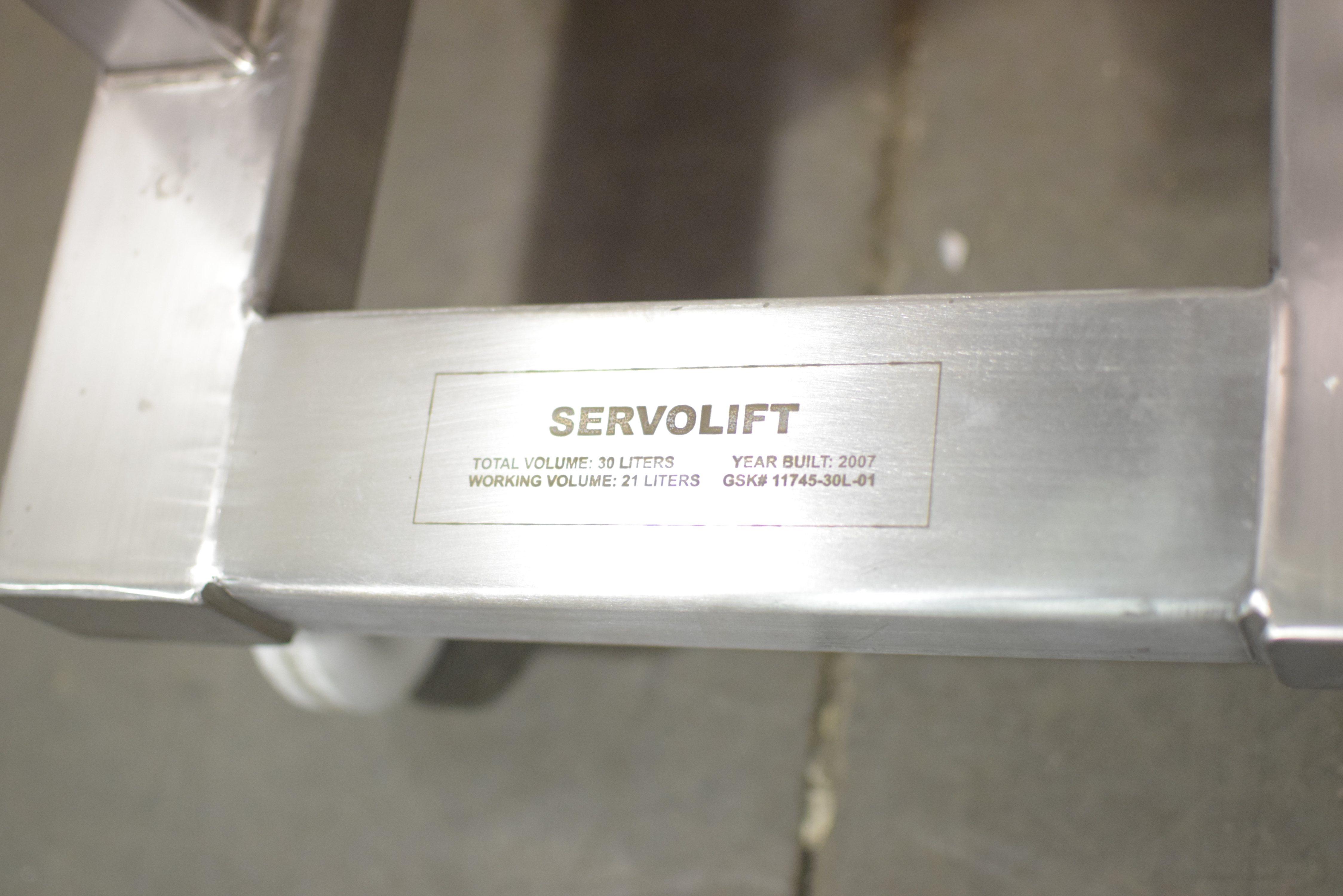 30 Liter Servolift stainless steel bin
