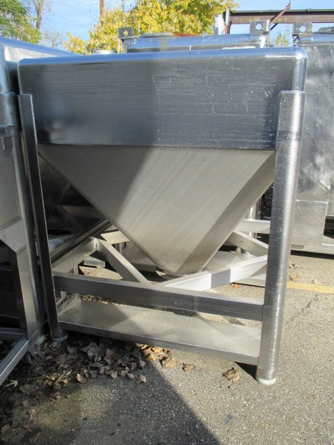 45 CU FT STAINLESS STEEL TOTE