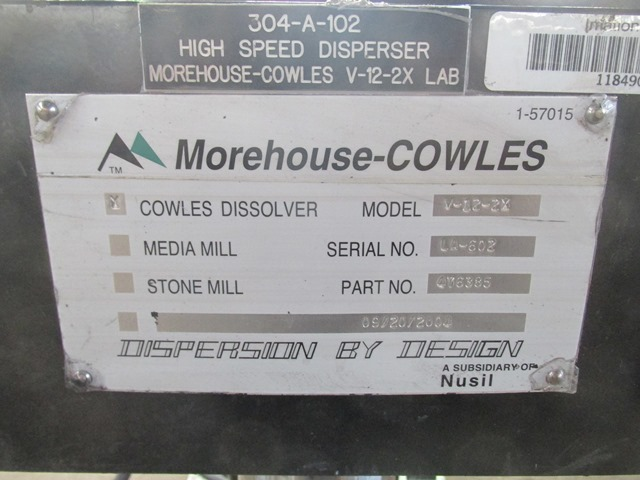 2 HP Cowles disperser, model V-12-2X