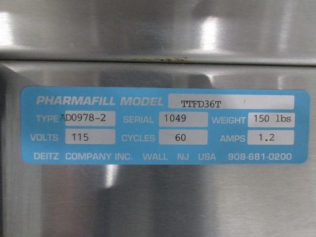 "36"" Pharmafill Accumulation Table, S/S"