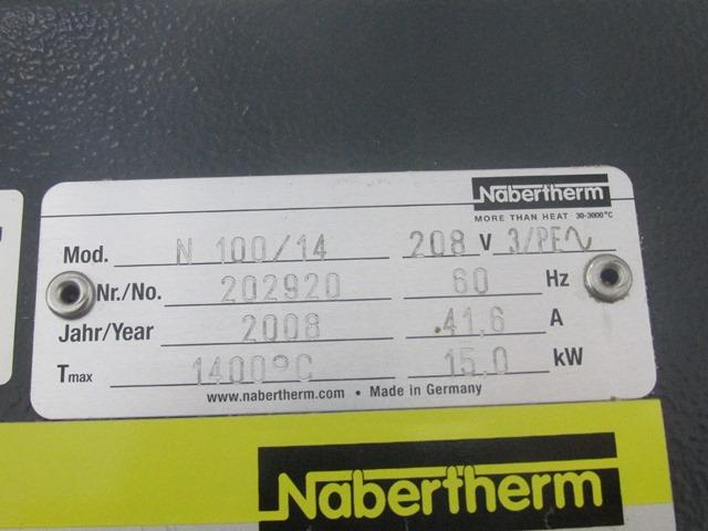 Nabertherm Furnace, Model N100/14, 1400 C