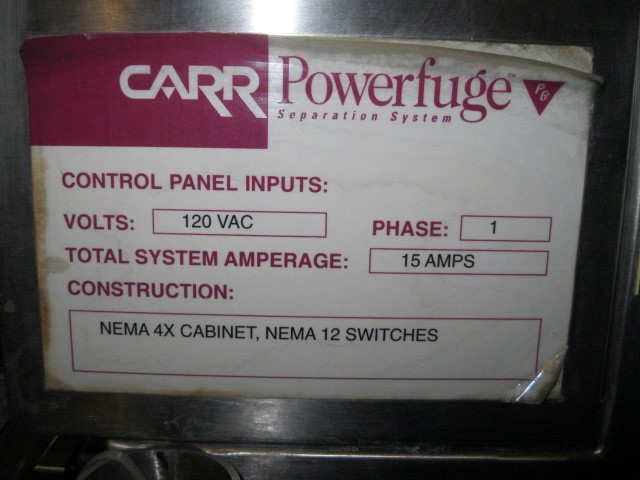 P6 CARR POWERFUGE, 316L/TI-6AL-4V BOWL