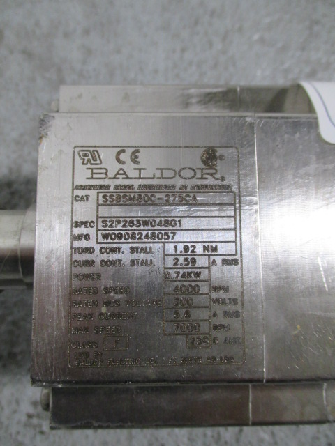 Baldor Stainless Steel Mixer, Cat# SSBSM80C-275CA