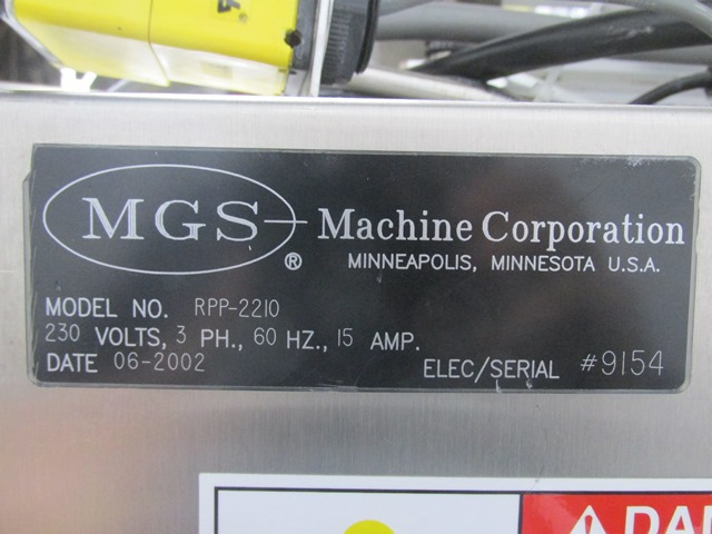 MGS Pick N Place Unit, Model RPP-2210