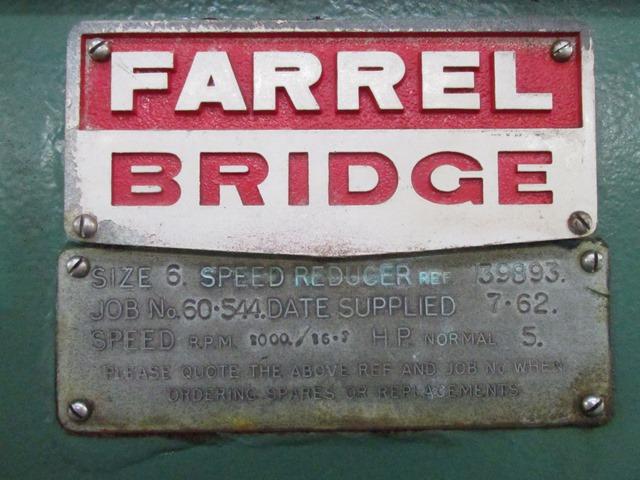 "16"" X 8"" Farrel Bridge Inclined Z Calender"