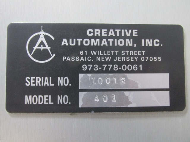 Creative Automation Leaflet Outserter, Model 401