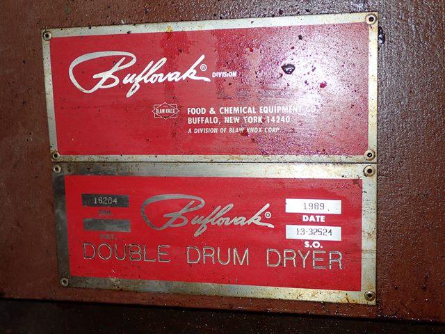 "32"" x 52"" Buflovak Double Drum Dryer"