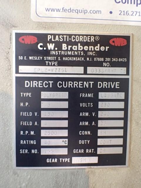 """3/4"""" Brabender Extruder, Type EPL2-V7751, 24:1 L/D"""