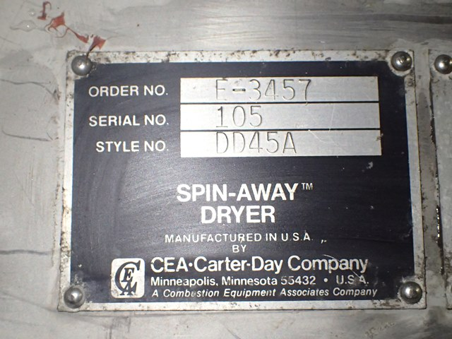 Carter-Day Spin Dryer, Style DD45A, S/S