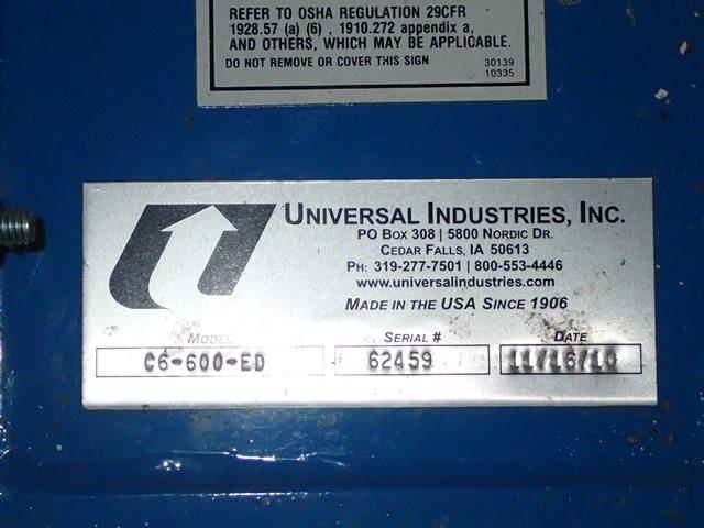 13'' Universal Ind Bucket Elevator, Model C6-600-ED, C/S