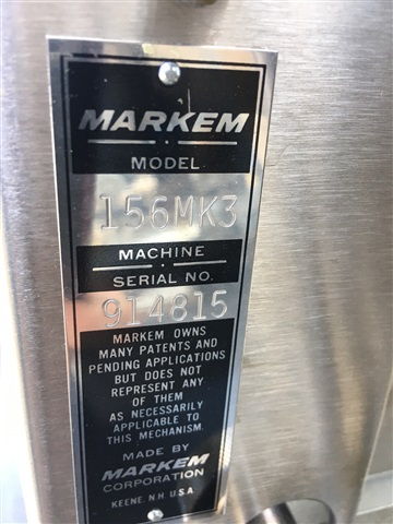 One used Markem 156A Mark III Tablet Printer w/ foot pedal