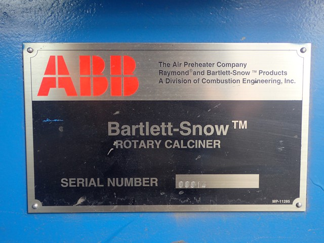 "16"" x 20'' Bartlett and Snow Rotary Calciner"