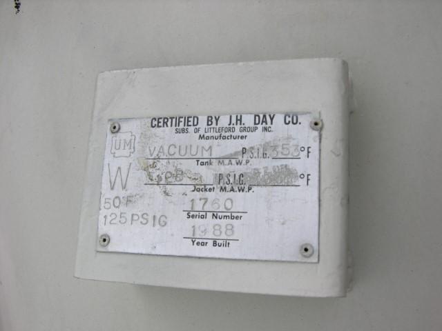 3.5 CU FT LITTLEFORD NAUTA DRYER, S/S, 125#