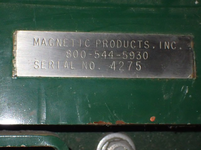 """36"""" x 78"""" Magnetic Products Cross Belt Magnet"""