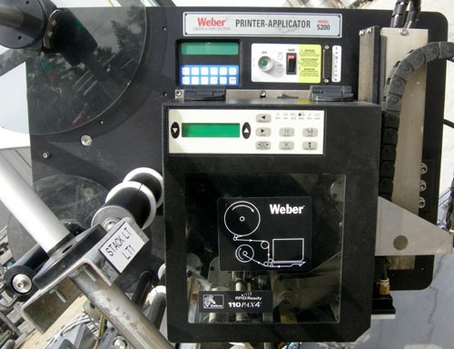 MODEL 5200VZ WEBER MARKING SYSTEMS PRINTER/APPLICATOR