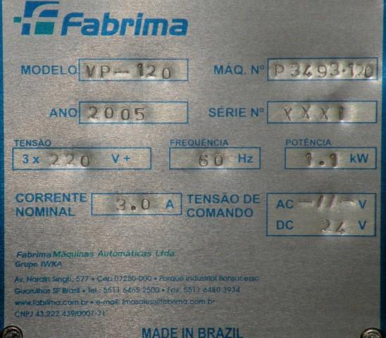 IWKA FABRIMA SEMI AUTOMATIC CARTONER, MODEL VP120