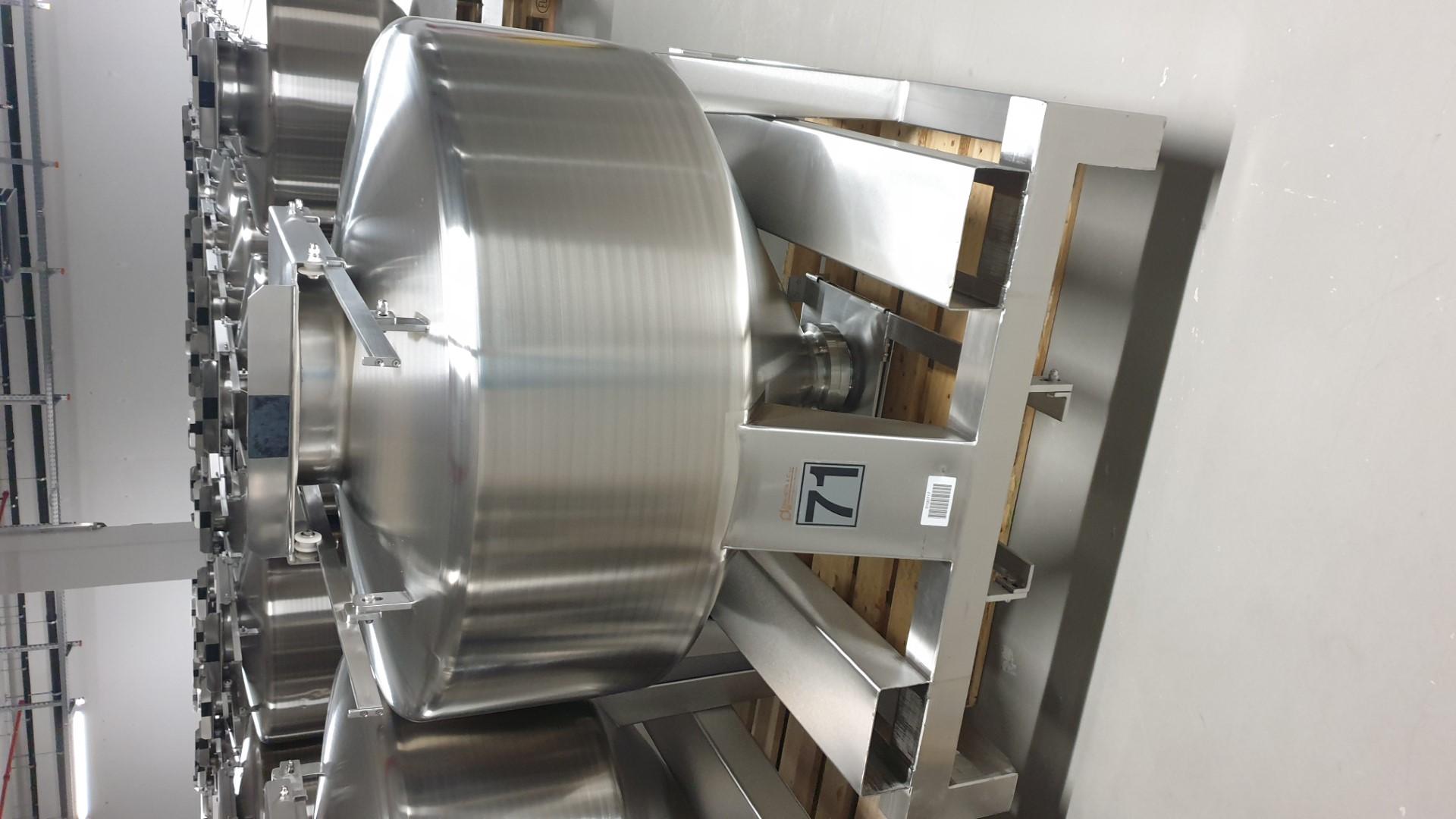 500 Liter / 0.5 Cu Meter Zanchetta Bin, 304 S/S