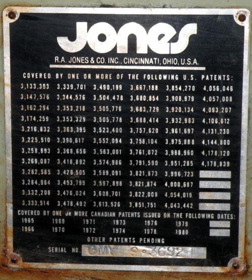 JONES VERTICAL CARTONER MODEL CMV8
