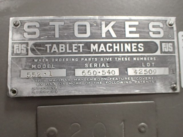 Stokes Tablet Press Model 552-1, 41 Station