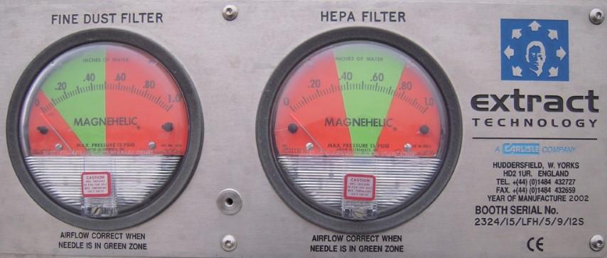 EXTRACT TECHNOGOLIES HEPA FILTER, S/S, 3 HP