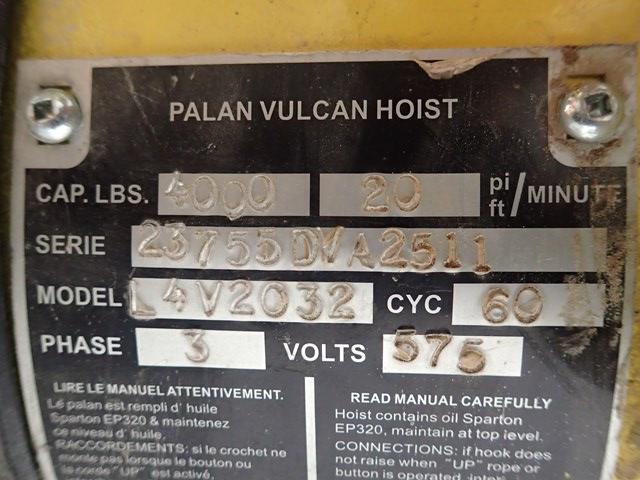 2 Ton Vulcan Electric Hoist