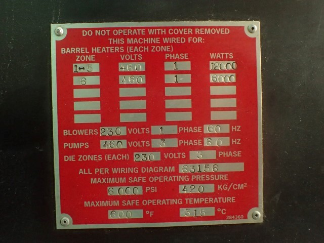 94mm Davis-Standard Gemini Parallel Twin Screw Extruder