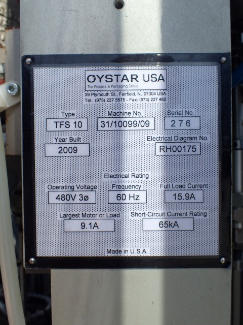 IWKA Oystar Tube Filler, Model TFS10