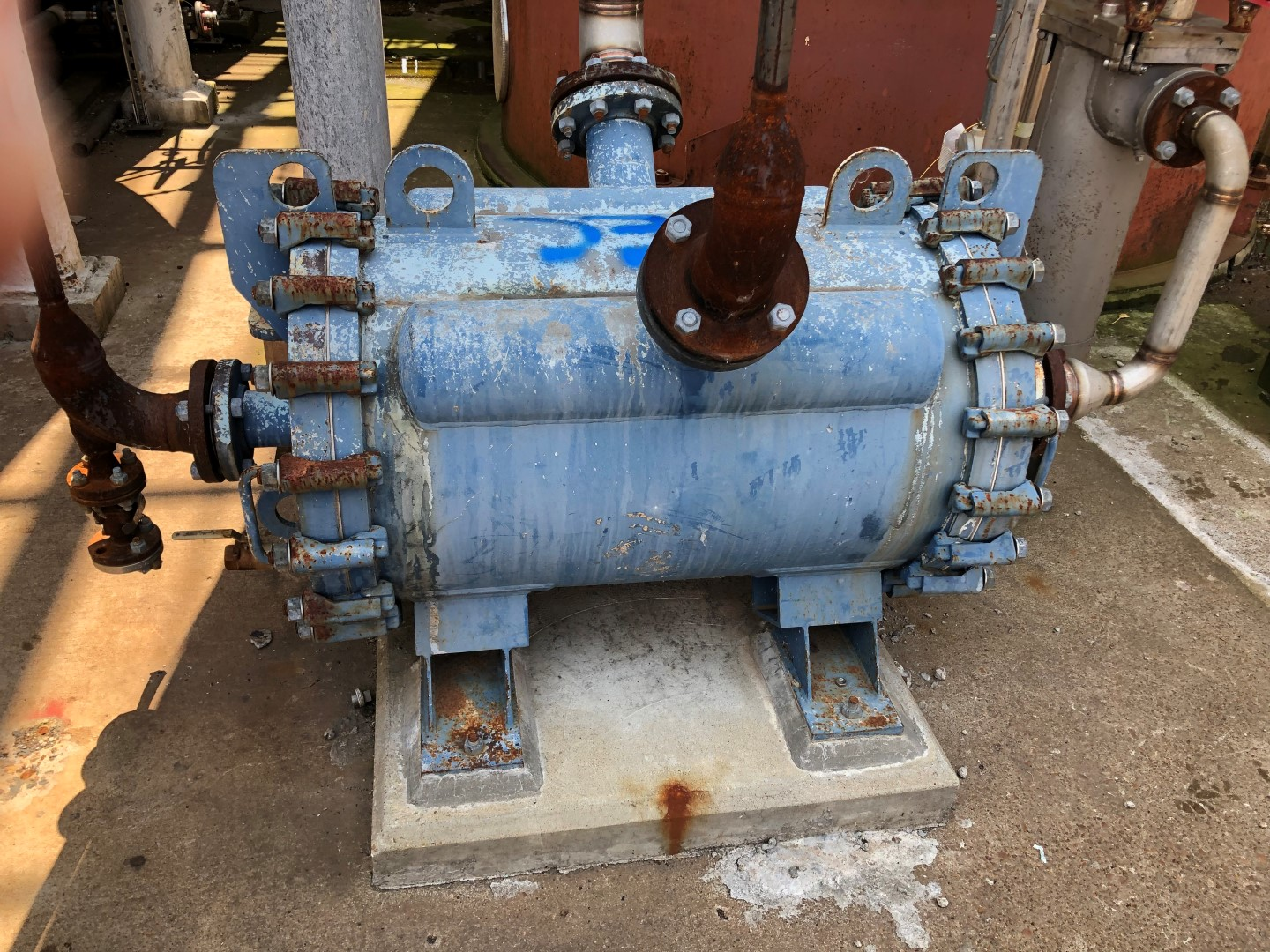 220 sq ft Alfa Laval sprial heat exchanger