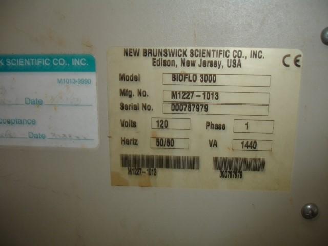 10 LITER NEW BRUNSWICK BIOFLO 3000 FERMENTOR, 316 S/S