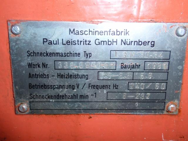 34 MM LEISTRITZ TWIN SCREW EXTRUDER, LSM 30.34