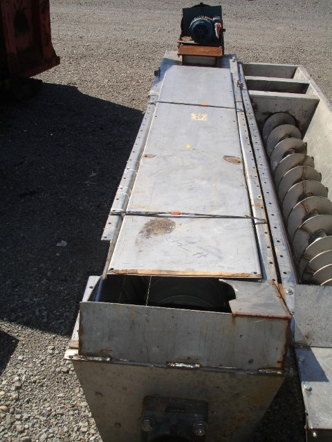 "10"" X 11'' LONG LINK BELT SCREW CONVEYOR, S/S"