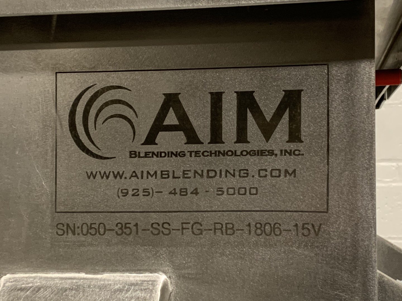 50 Cu Ft AIM Blending Ribbon Blender, 304 S/S, 15 HP