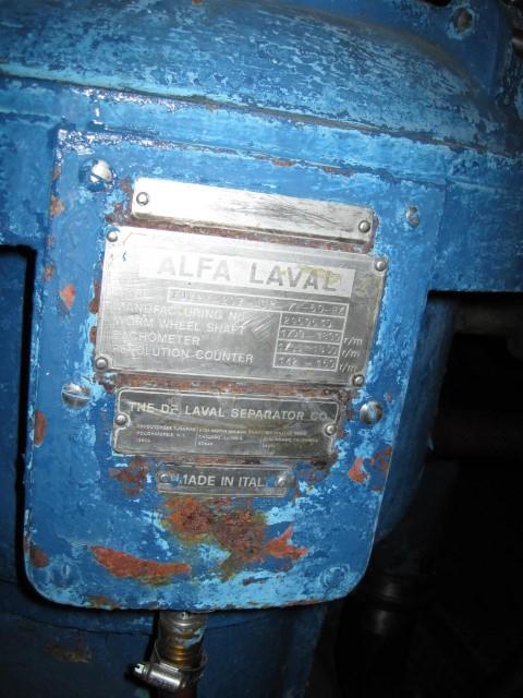 VPX207-AGP-74 ALFA LAVAL CENTRIFUGE