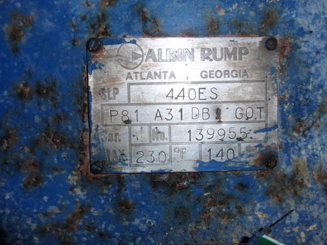 "4"" ALBIN ROTARY LOBE PUMP, S/S"