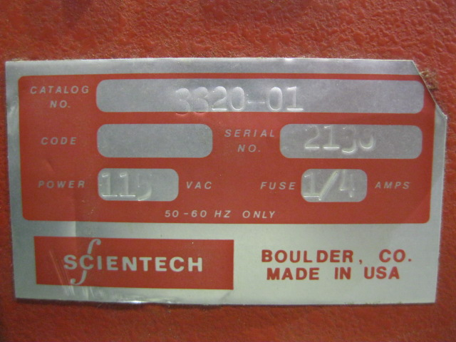 SCIENTECH SCALE, MODEL 3320