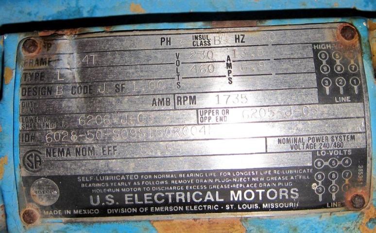 """2.5"""" BLACKMER ROTARY VANE PUMP, C/S, 5 HP"""