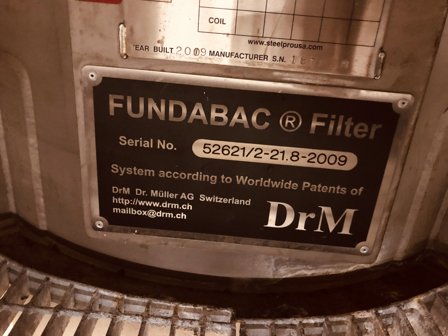 21.8 Sq Meter Fundabac Candle Filter, Duplex 2205