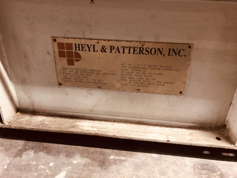 """66"""" x 83'' Heyl & Patterson Calciner, 316 S/S"""