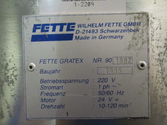 FETTE GRATEX TABLET DEDUSTER