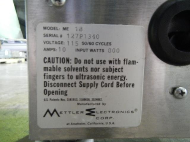 ME18 METTLER ELECTRONICS CAVITATOR ULTRASONIC CLEANER