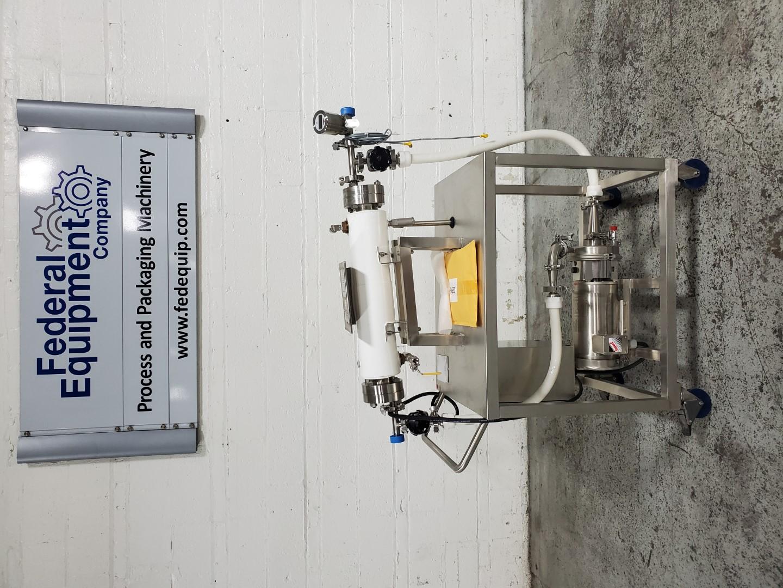 2.5 Sq Ft Chemineer Heat Exchanger Static Mixer, S/S, 100/10